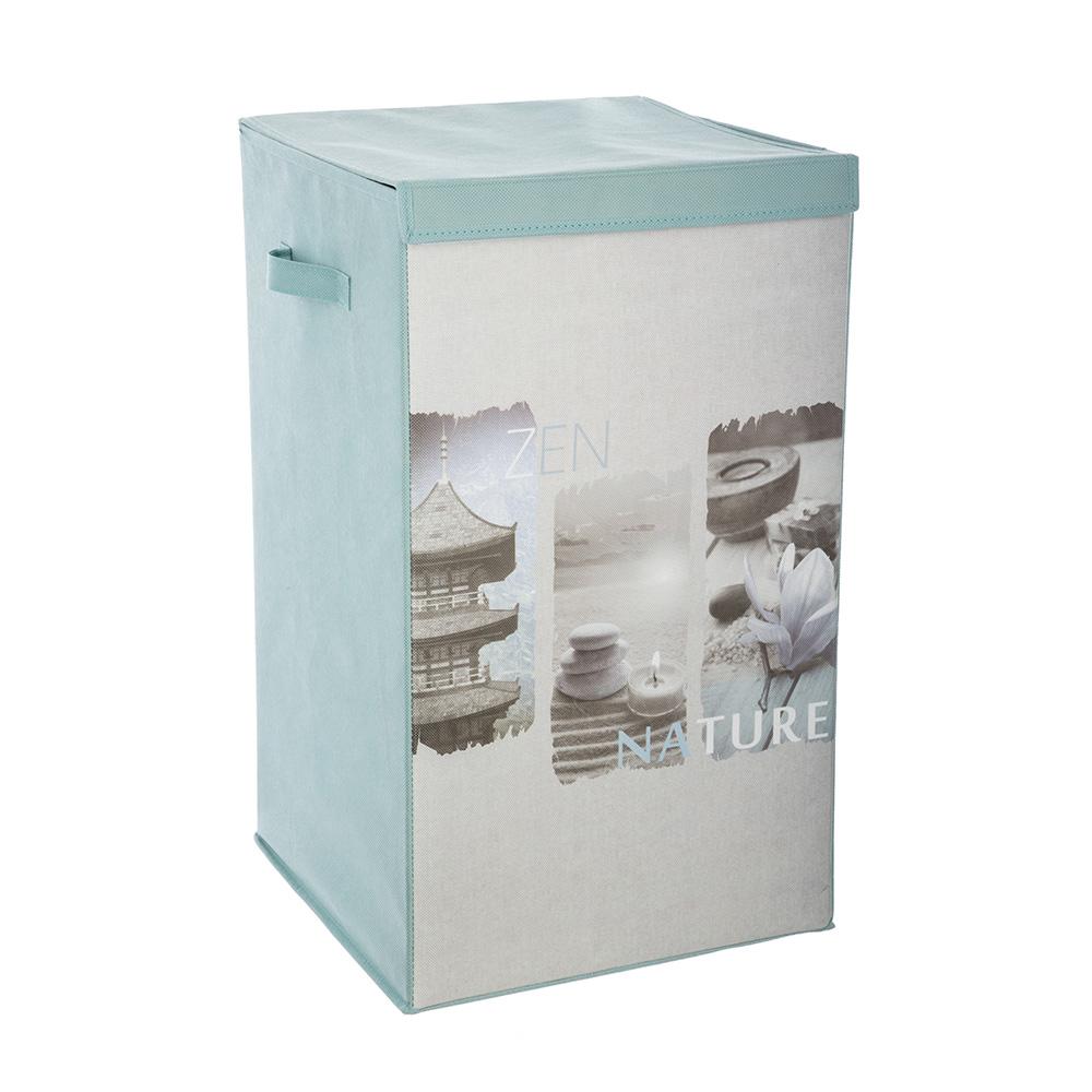 Cesto Para Ropa Sucia - Diseño Zen - 35X35X60Cm