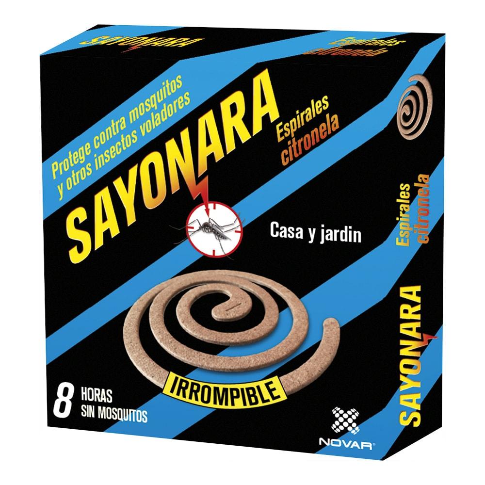 Sayonara Espiral Antimosquitos Citronella 10Uds