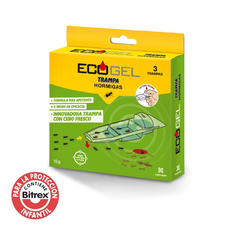 Ecogel Hormigas Kit 3 Trampas 15 Grs.