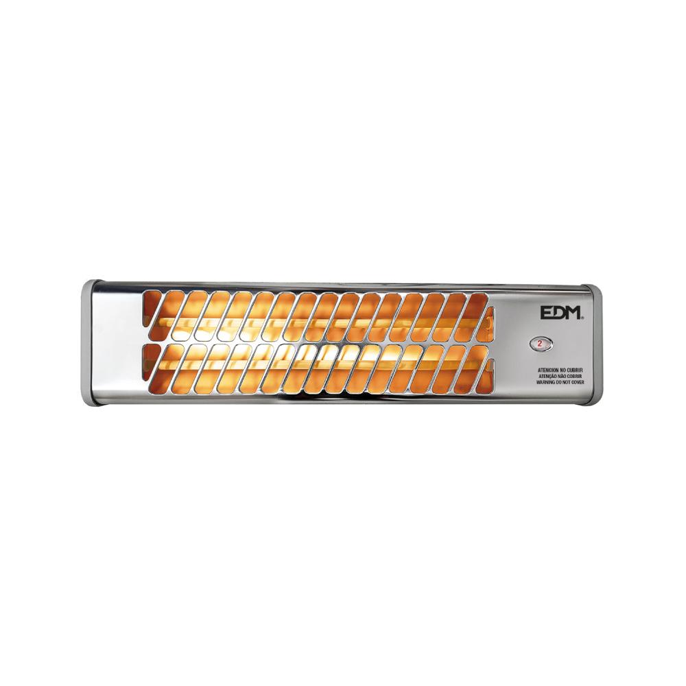Estufa De Baño De Cuarzo - Modelo Cromo - 600-1200W  Orientable - Edm