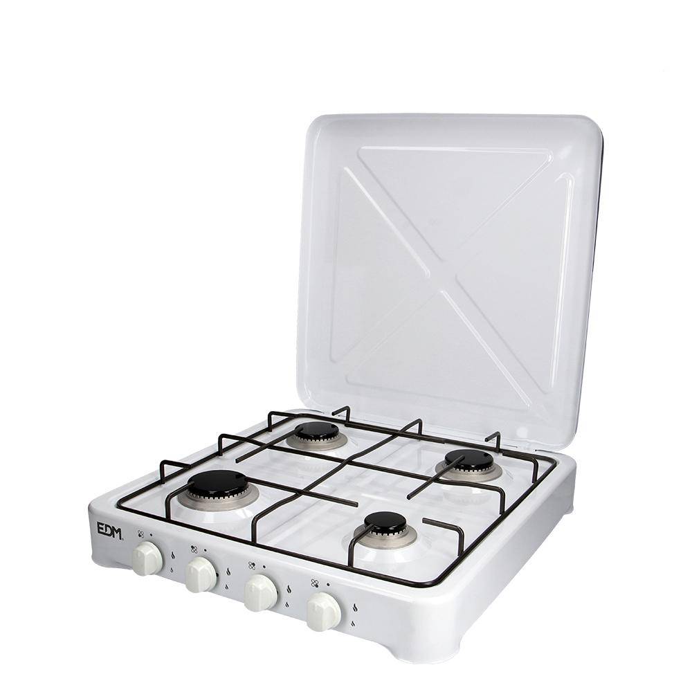 Cocina De Gas - Esmaltada - 4 Fuegos - Edm