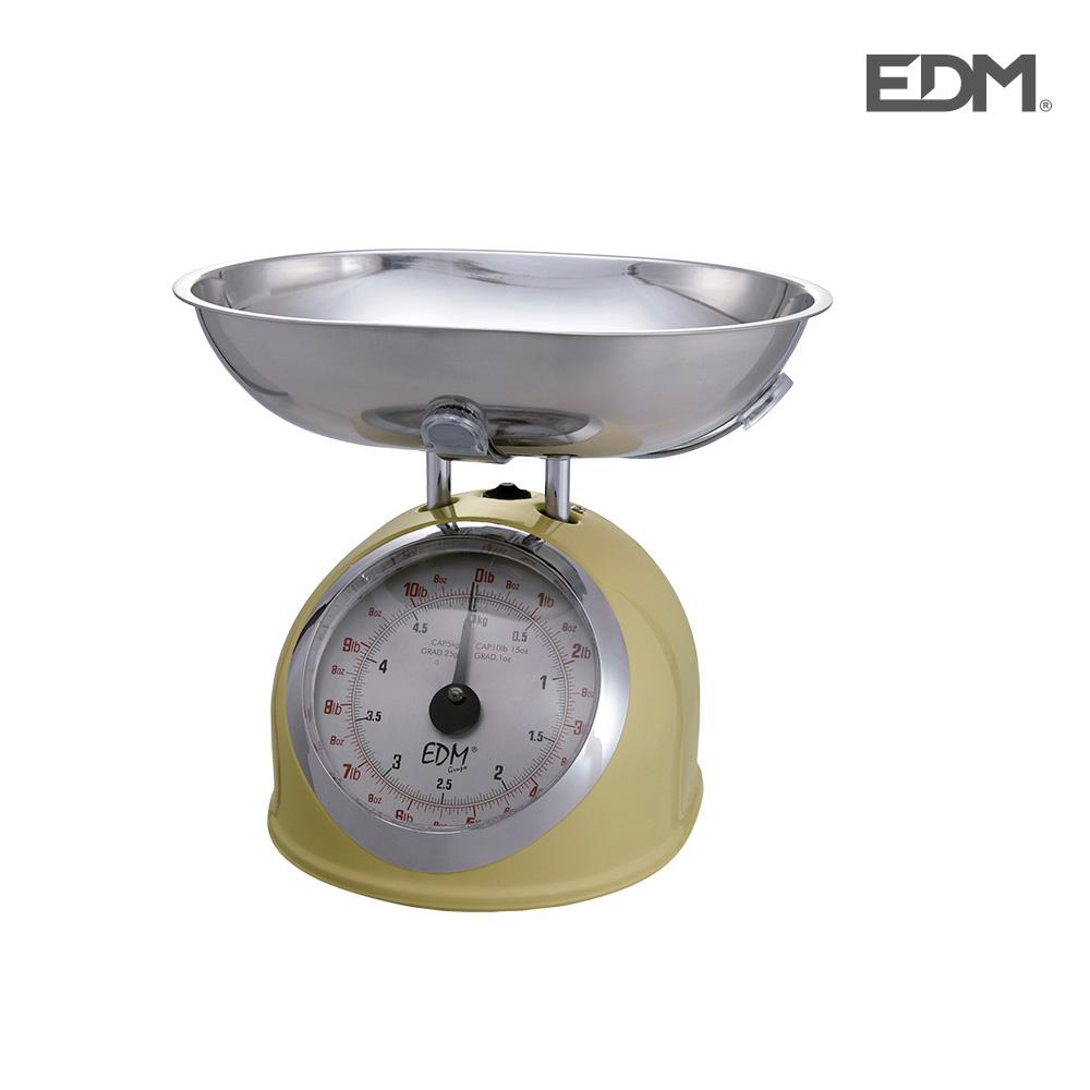Bascula cocina mecanica clasica max. 5kg crema edm