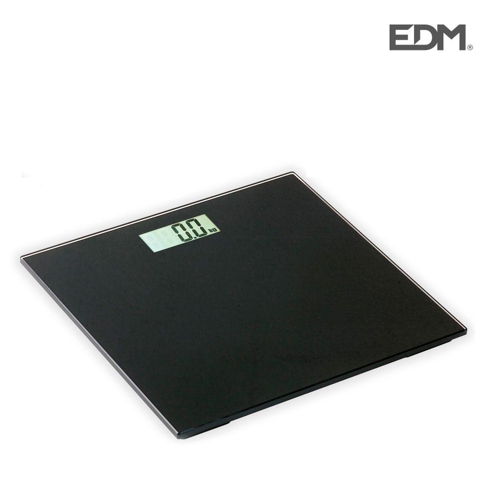 Bascula de baño negra max. 180kg edm