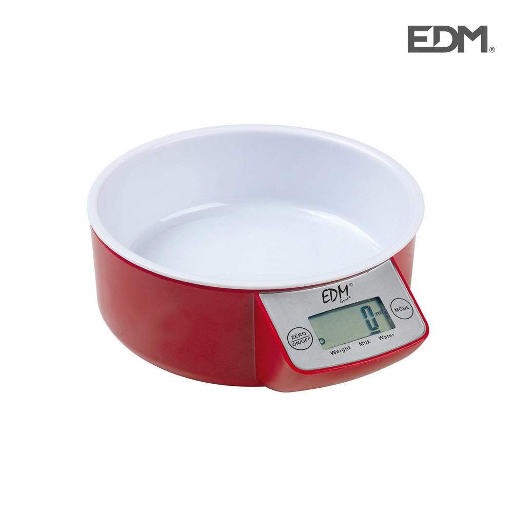 Bascula de cocina con recipiente max. 5kg edm