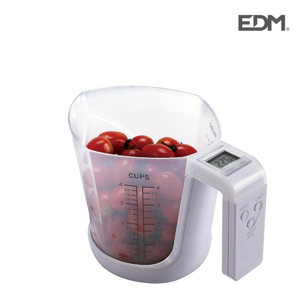 Bascula digital con vaso medidor max. 3kg edm