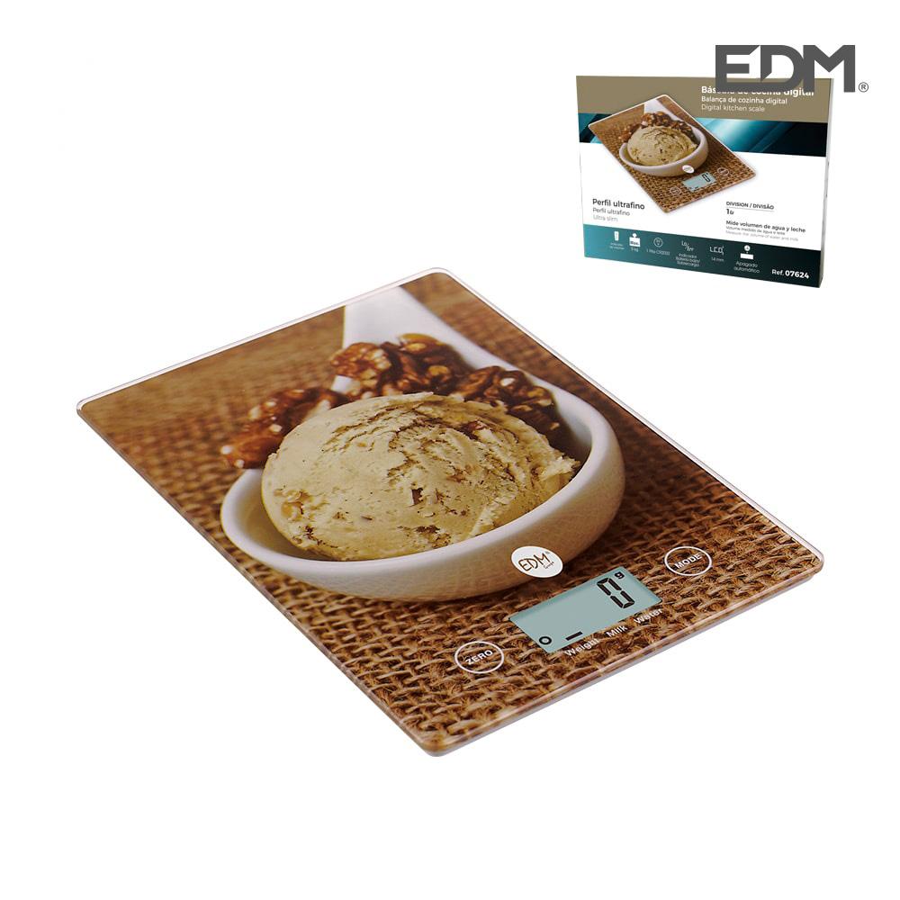 Bascula cocina digital modelo helado max. 5kg edm