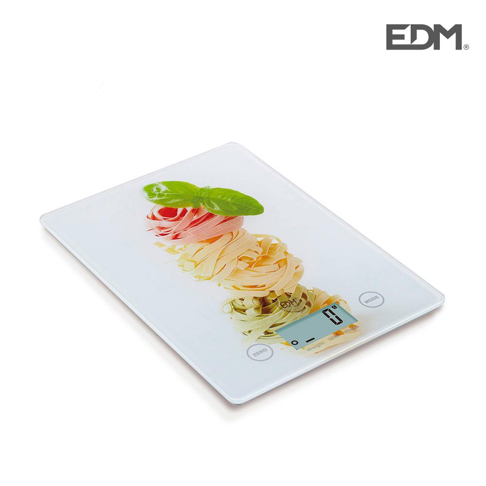Bascula Cocina Digital Modelo Pasta Colores Max. 5Kg Edm
