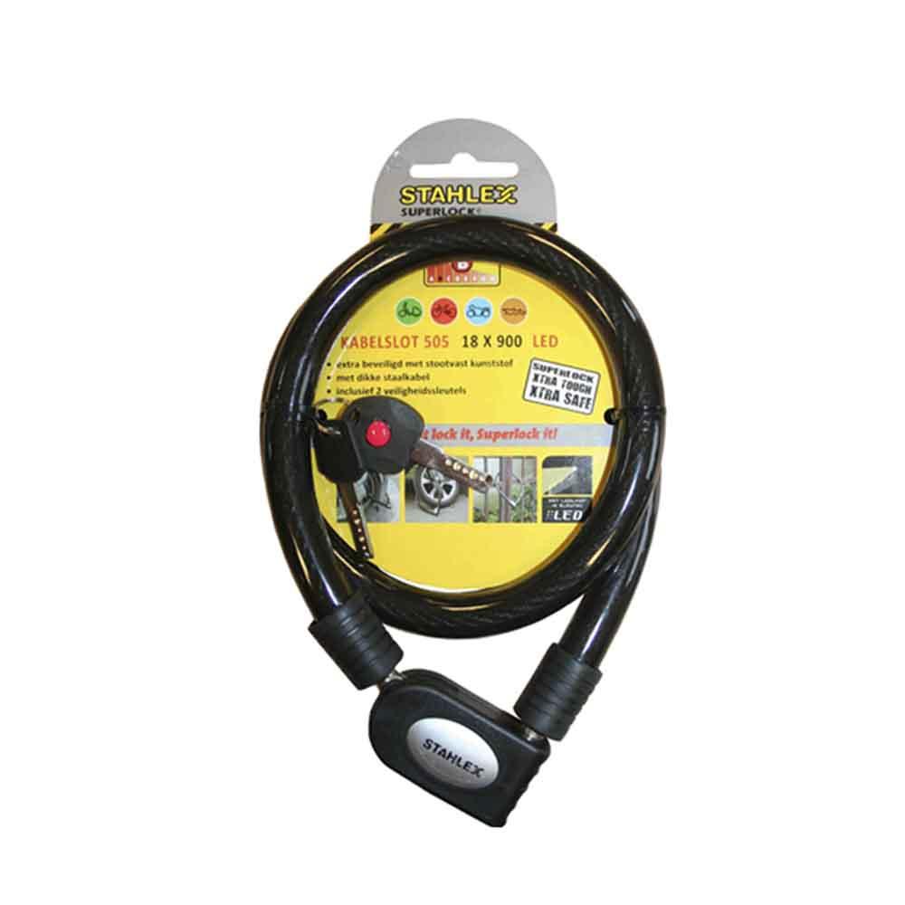 Candado De Cable Forrado 18X900 Con Led