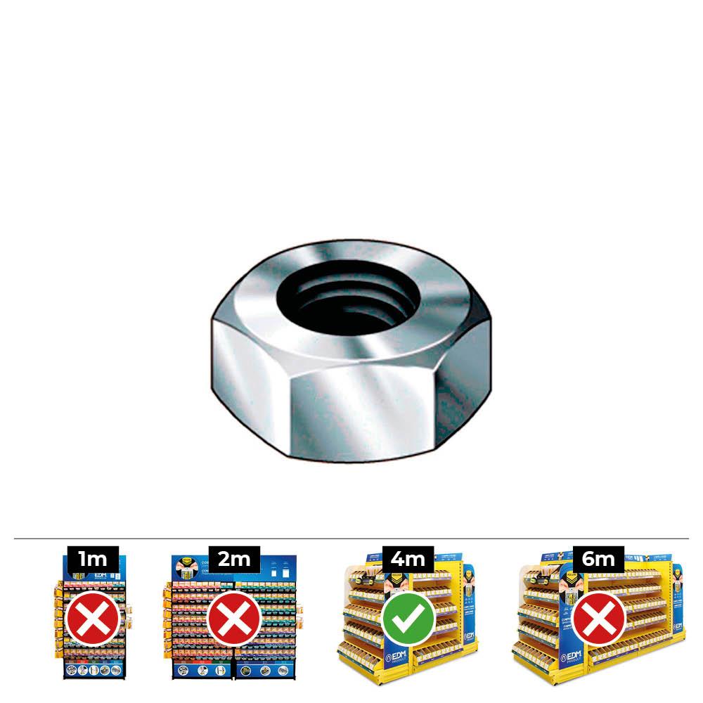 Caja 1000Uni Tuerca Hexagonal Din/Ref 934 4 Zincado Celo