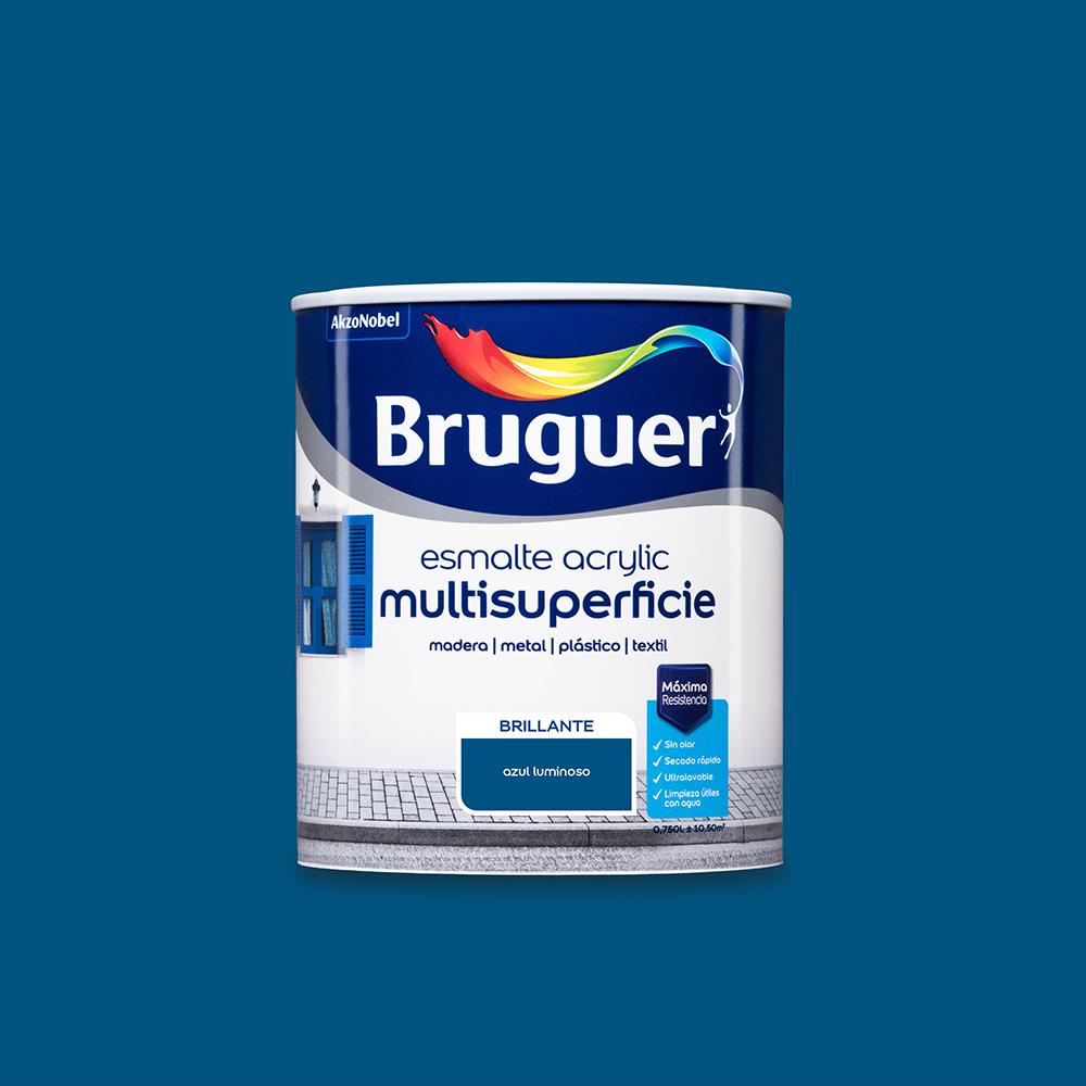 Esmalte Acrylic Multisuperficie Brillante Azul Luminoso 0,750L Bruguer