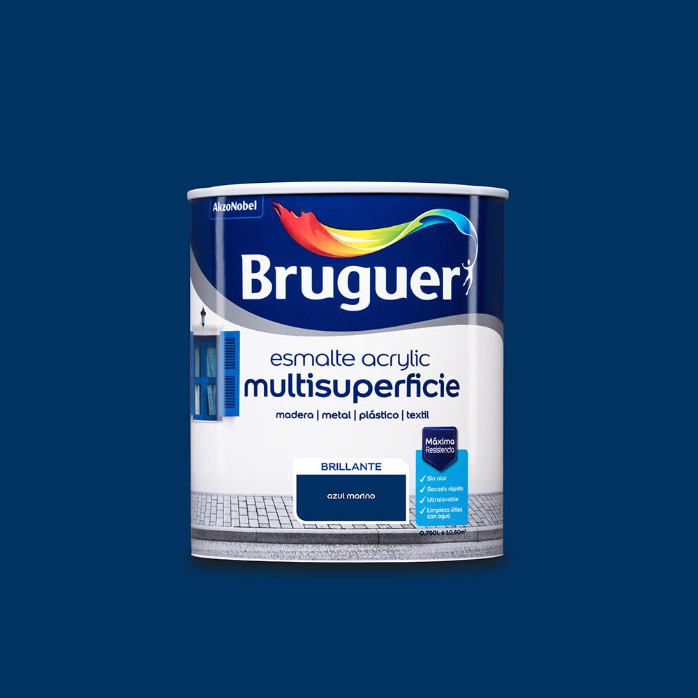 Esmalte Acrylic Multisuperficie Brillante Azul Marino 0,750L Bruguer