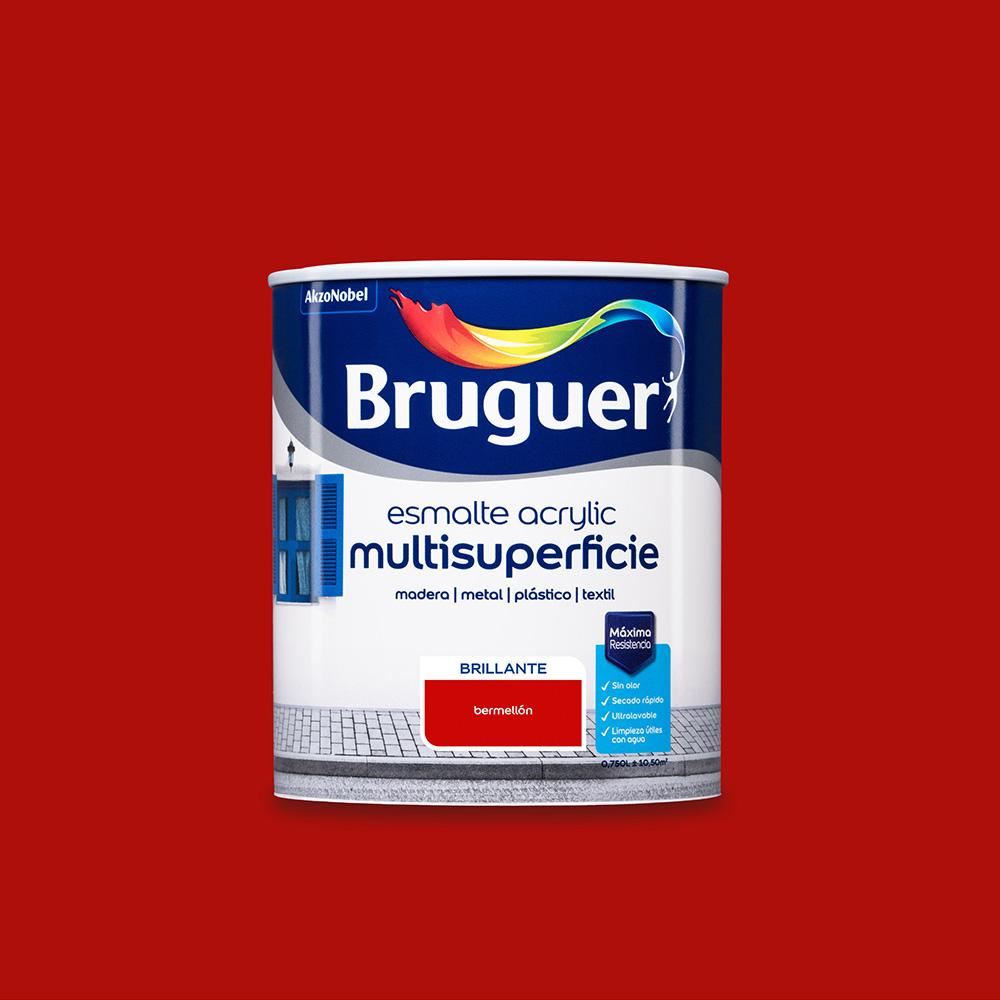 Esmalte Acrylic Multisuperficie Brillante Bermellon 0,750L Bruguer