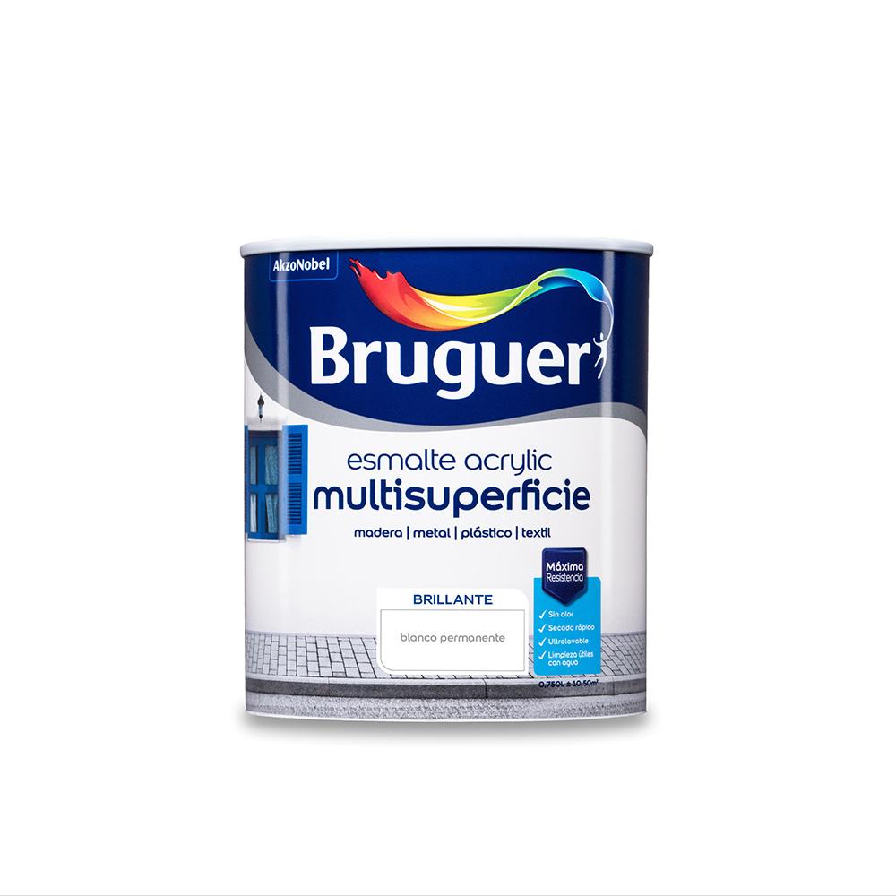 Esmalte Acrylic Multisuperficie Brillante Blanco Permanente 0,750L Bruguer