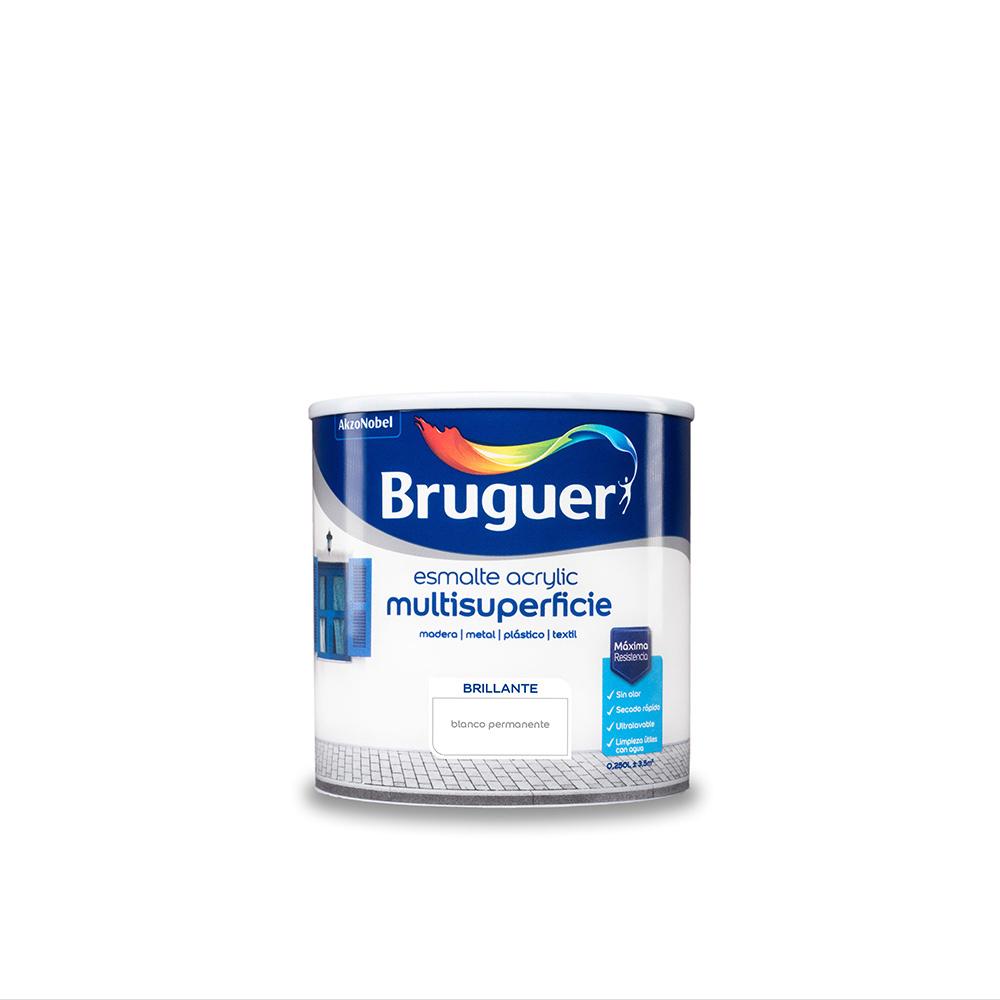 Esmalte Acrylic Multisuperficie Brillante Blanco Permanente 0,250L Bruguer