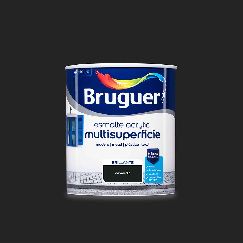 Esmalte Acrylic Multisuperficie Brillante Gris Medio 0,750L Bruguer