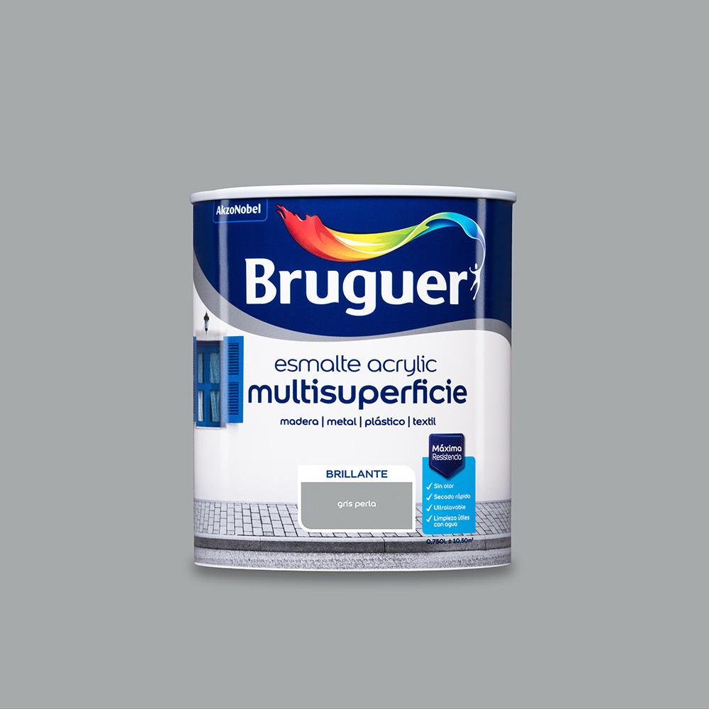 Esmalte Acrylic Multisuperficie Brillante Gris Perla 0,750L Bruguer