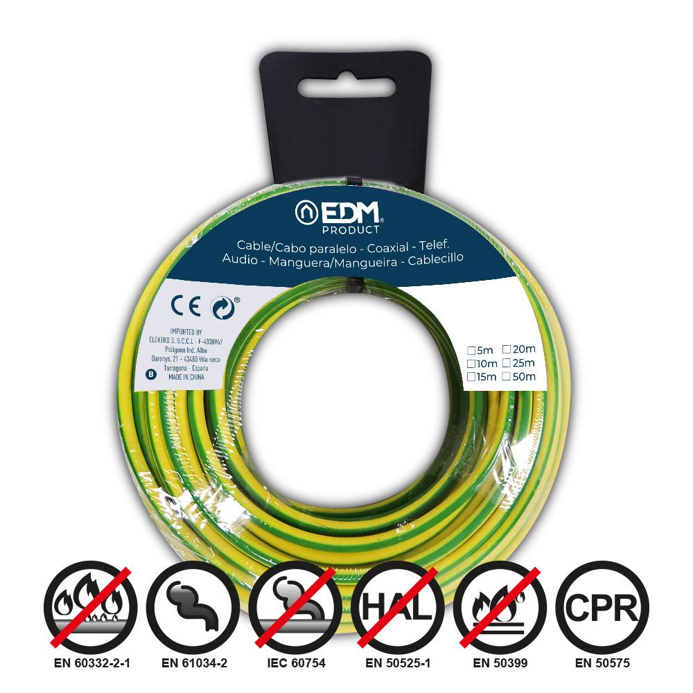 Carrete Cablecillo Flexible 1,5Mm Bicolor 20M Libre-Halogeno