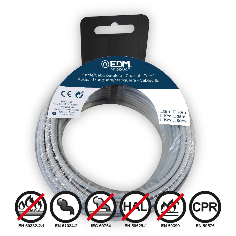 Carrete Cablecillo Flexible 1,5Mm Azul 50M Libre-Halogeno