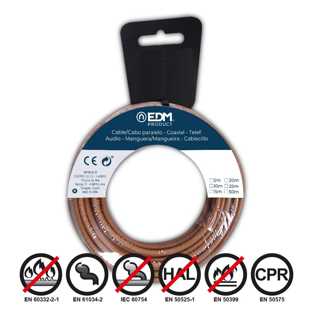 Carrete Cablecillo Flexible 1,5M/M Bicolor 50 Mtrs Libre-Halogeno