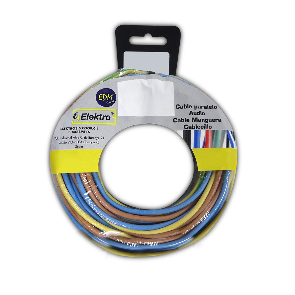 Carrete Cablecillo 1,5Mm 3 Cables (Az-M-T) 5M Xcolor 15Mt