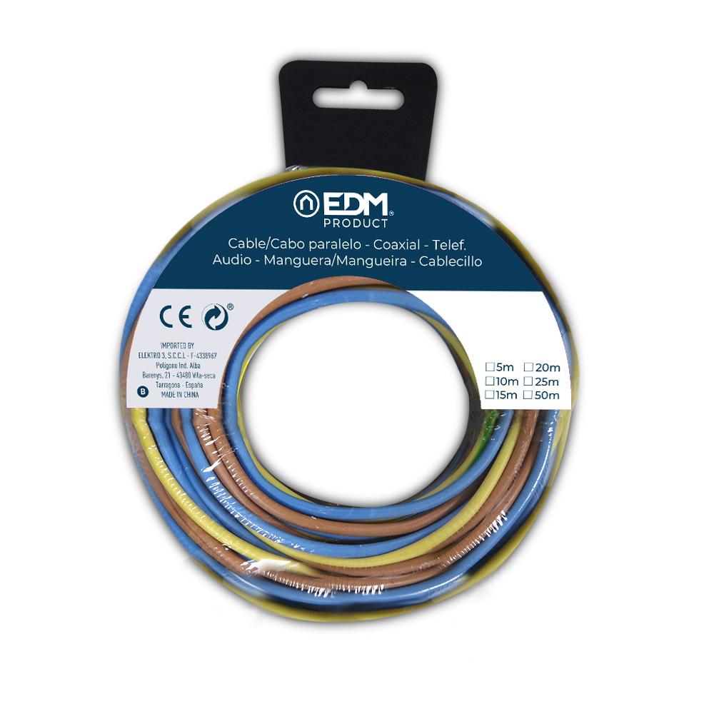 Carrete Cablecillo 2,5Mm 3 Cables (Az-M-T) 5M Xcolor 15M