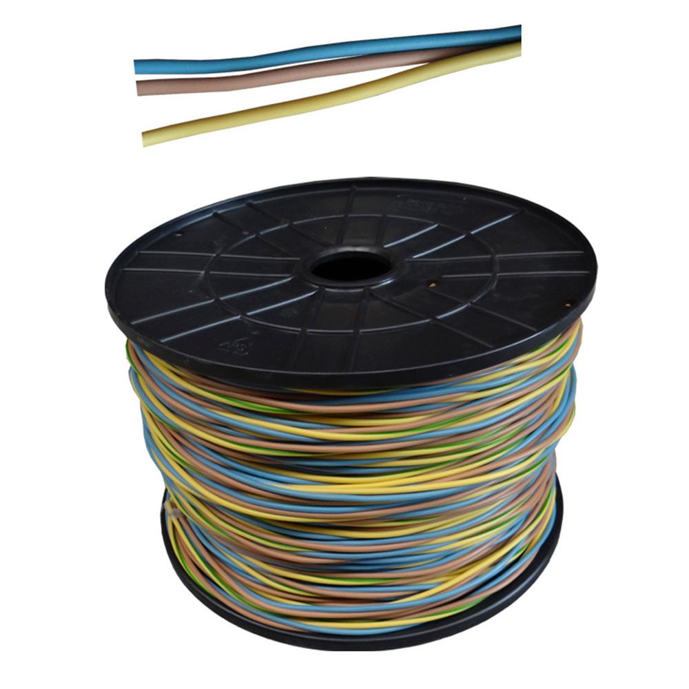 Carrete Cablecillo 3 Cables*2,5Mm (Azul, Marron Y Tierra) 130Mts De Cada Cable, Total 390Mts  (Bobina Pequeña)