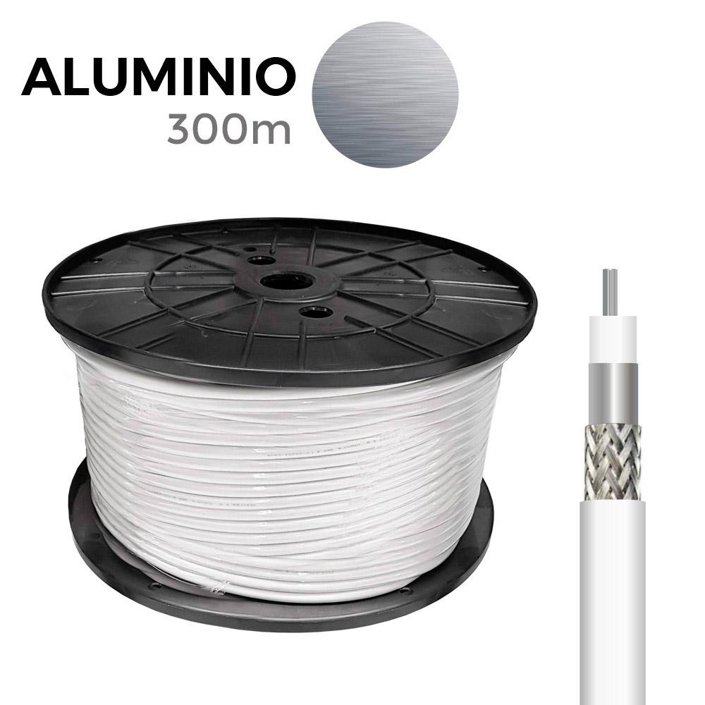 Carrete Coaxial Aluminio 300Mts Edm (Bobina Grande)