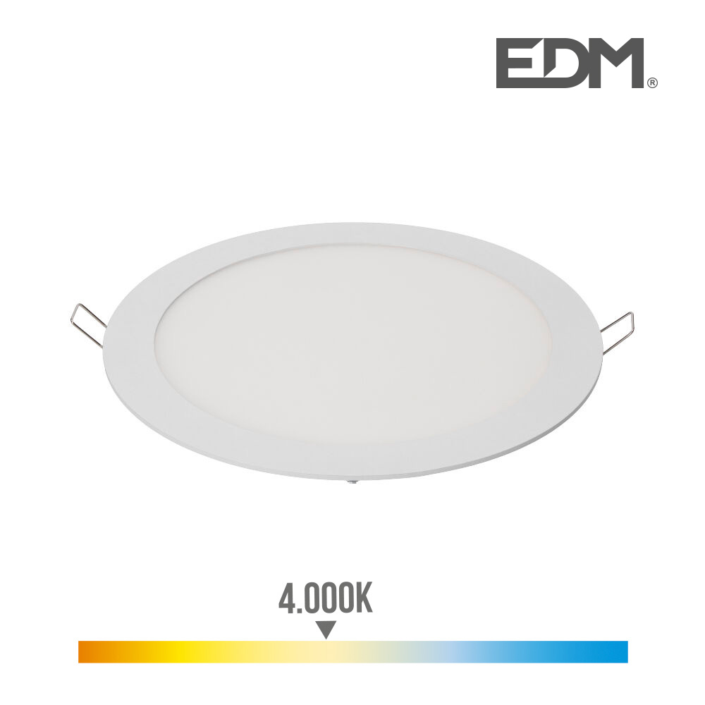 Downlight Led Empotrable 20W Luz Dia 4.000K 1500 Lumens Blanco Lumeco