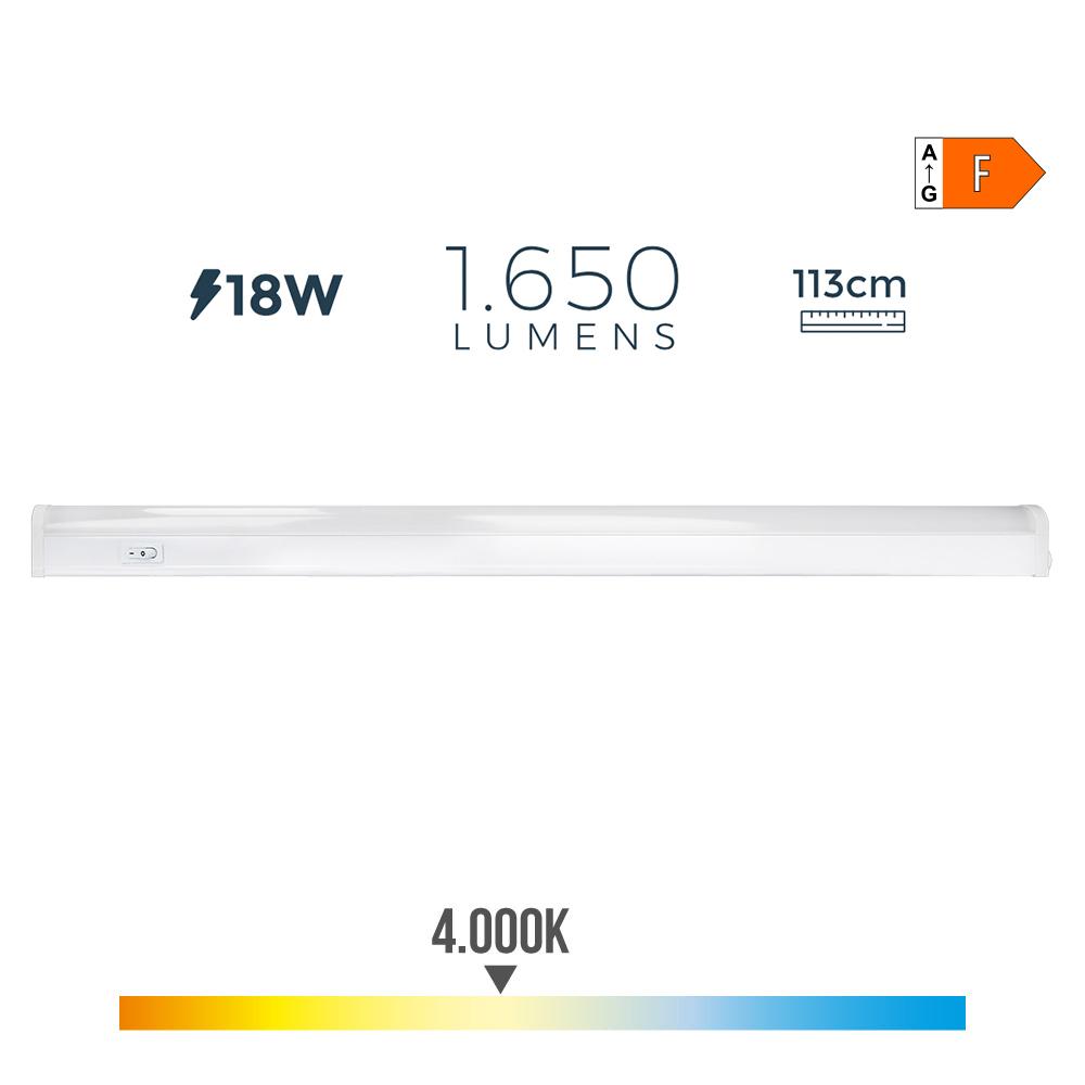 Regleta Electronica Led 18W 1550 Lumens 113Cm 4.000K Edm