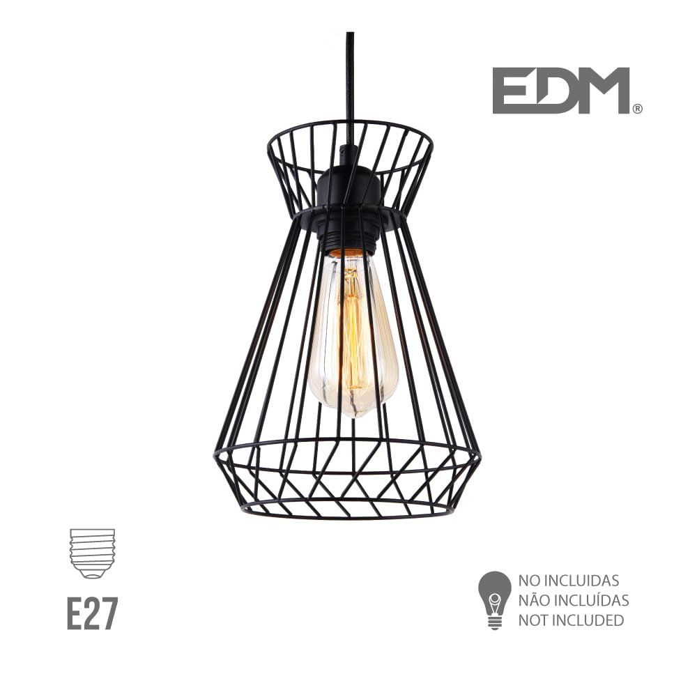 Lampara  Techo E27 Metalica Edm