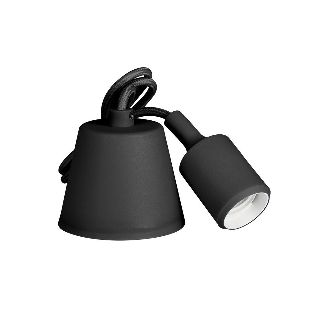 Colgante De Silicona E27 60W Negro (98,4 Cm) Edm