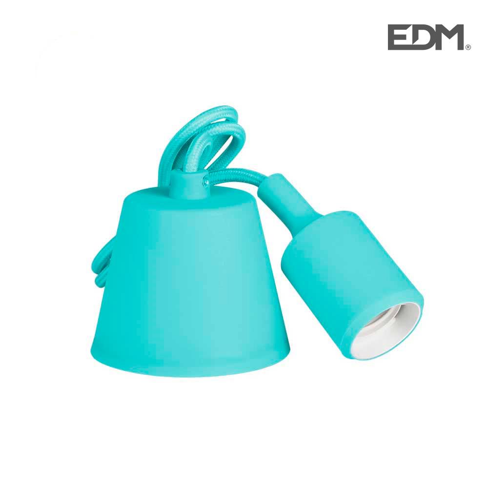 Colgante De Silicona E27 60W Azul (98,4 Cm) Edm
