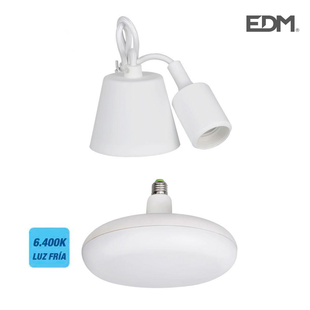 Kit Colgante De Silicona Bombilla Incluida Blanco E27 24W 1700 Lumens (98,4 Cm) Edm