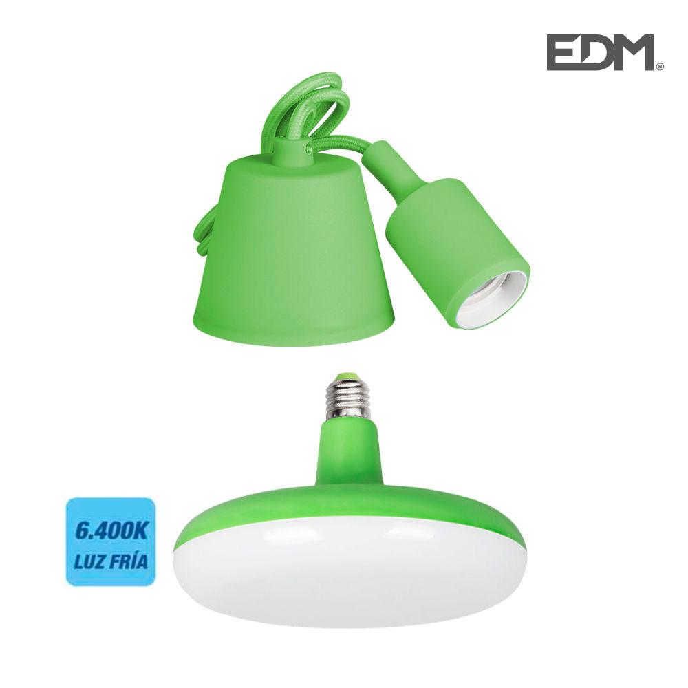 Kit Colgante De Silicona Bombilla Incluida Verde E27 24W 1700 Lumens (98,4 Cm) Edm
