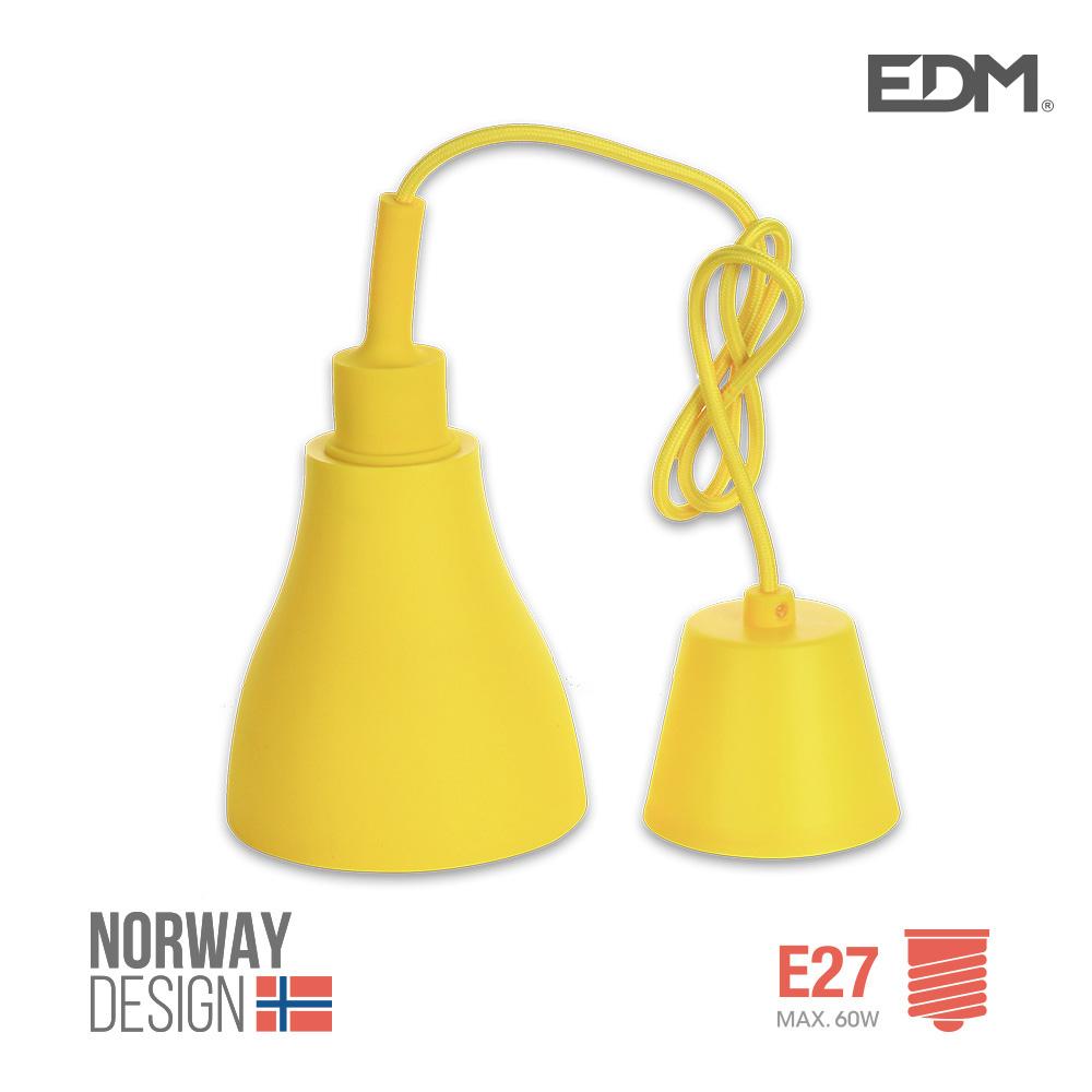 Colgante De Silicona Norway Design E27 60W Amarillo Edm