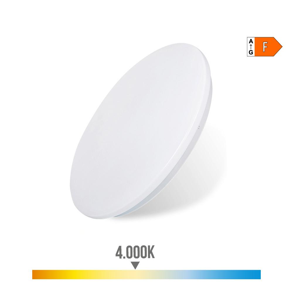 Aplique Superficie Led Extraplano 18W 1.260 Lumens 4.000K Circular 33X6,6Cm Edm