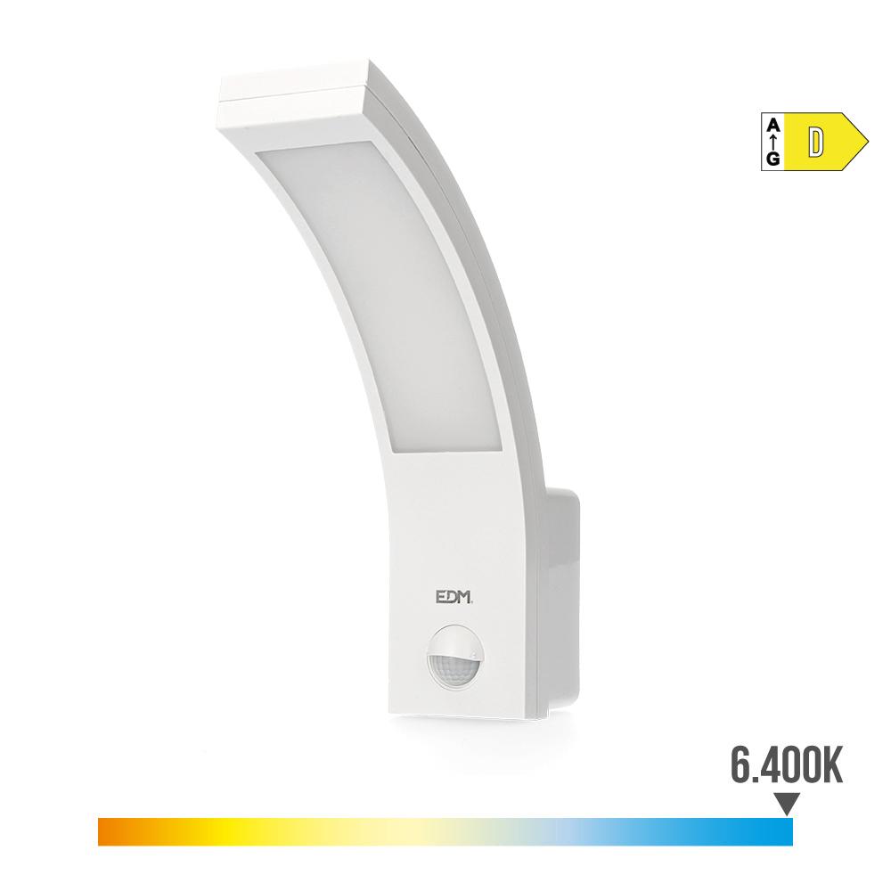 Aplique Exterior Led 10W 750 Lumen 6.400K Con Sensor