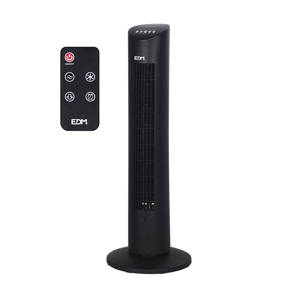 Ventilador torre negro 60w edm