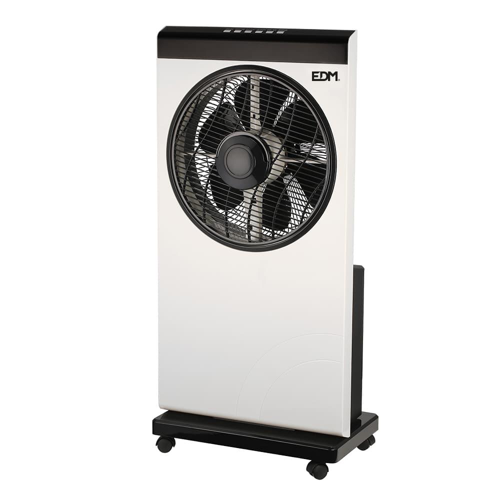 Ventilador nebulizador blanco/negro 80w  ø aspas 30 cm edm