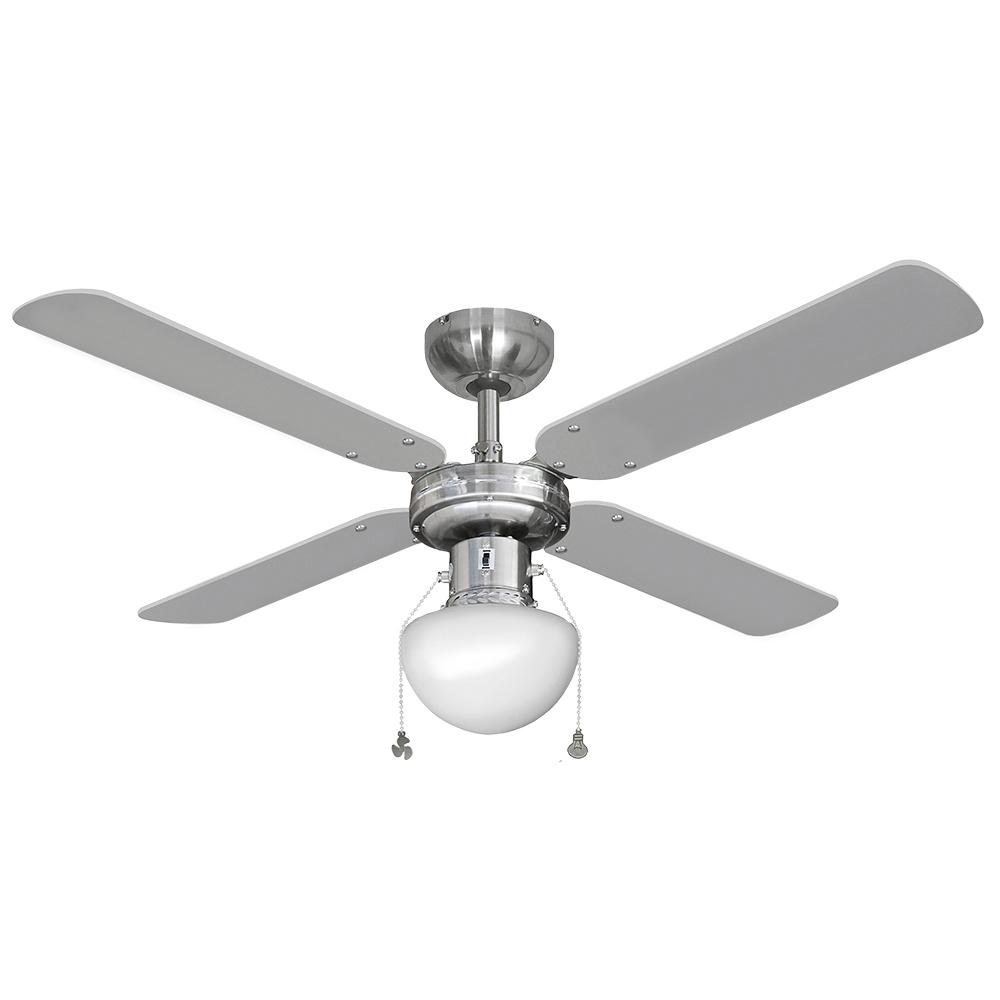Ventilador De Techo Modelo Caribe 50W Ø102Cm Cromado 65M3/Min Edm