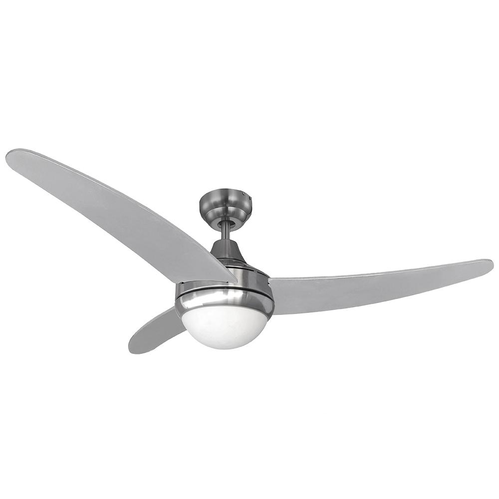 Ventilador de techo modelo egeo plateado/niquel 60w ø aspas 122 cm edm