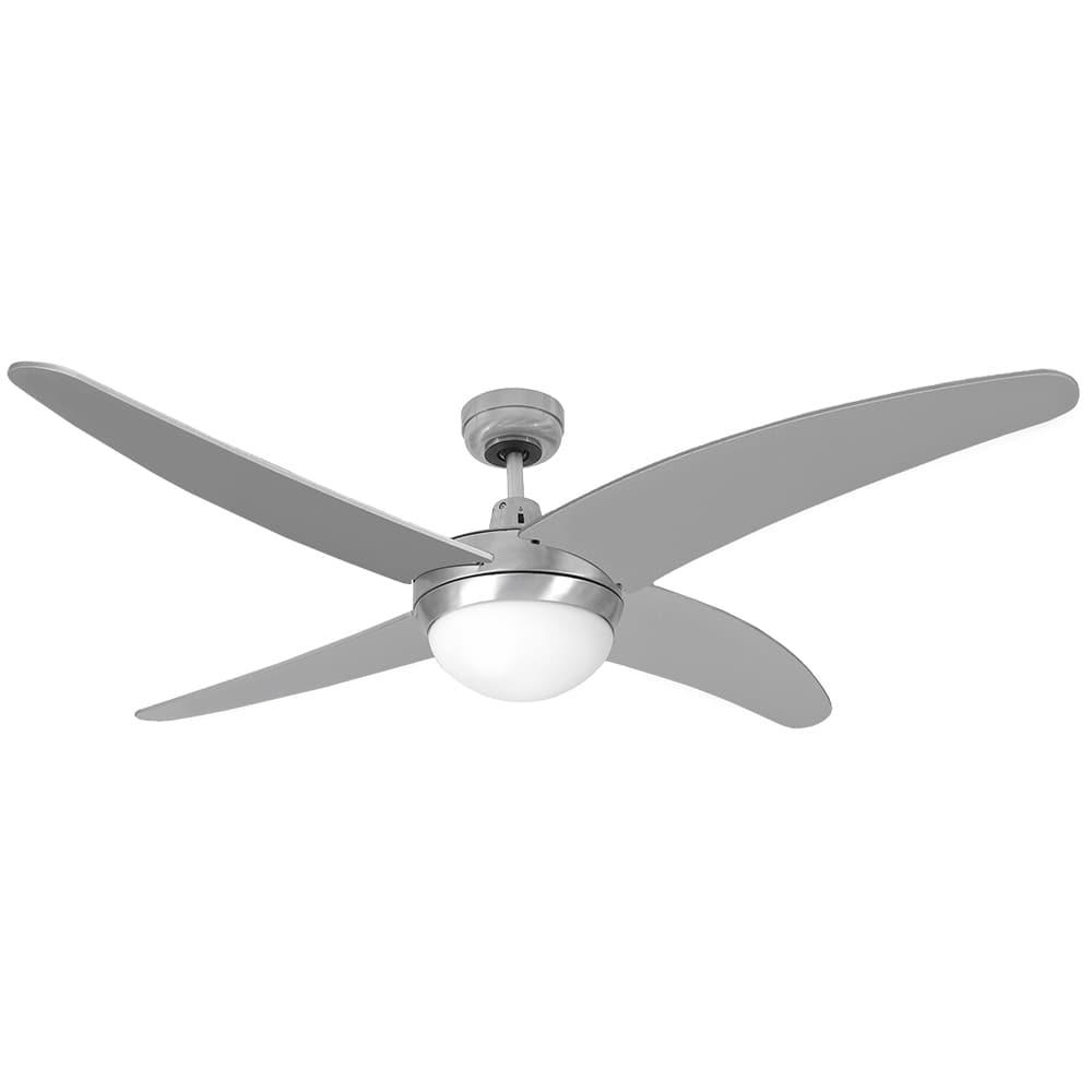 Ventilador de techo modelo caspio plateado/niquel 60w ø aspas 132 cm edm