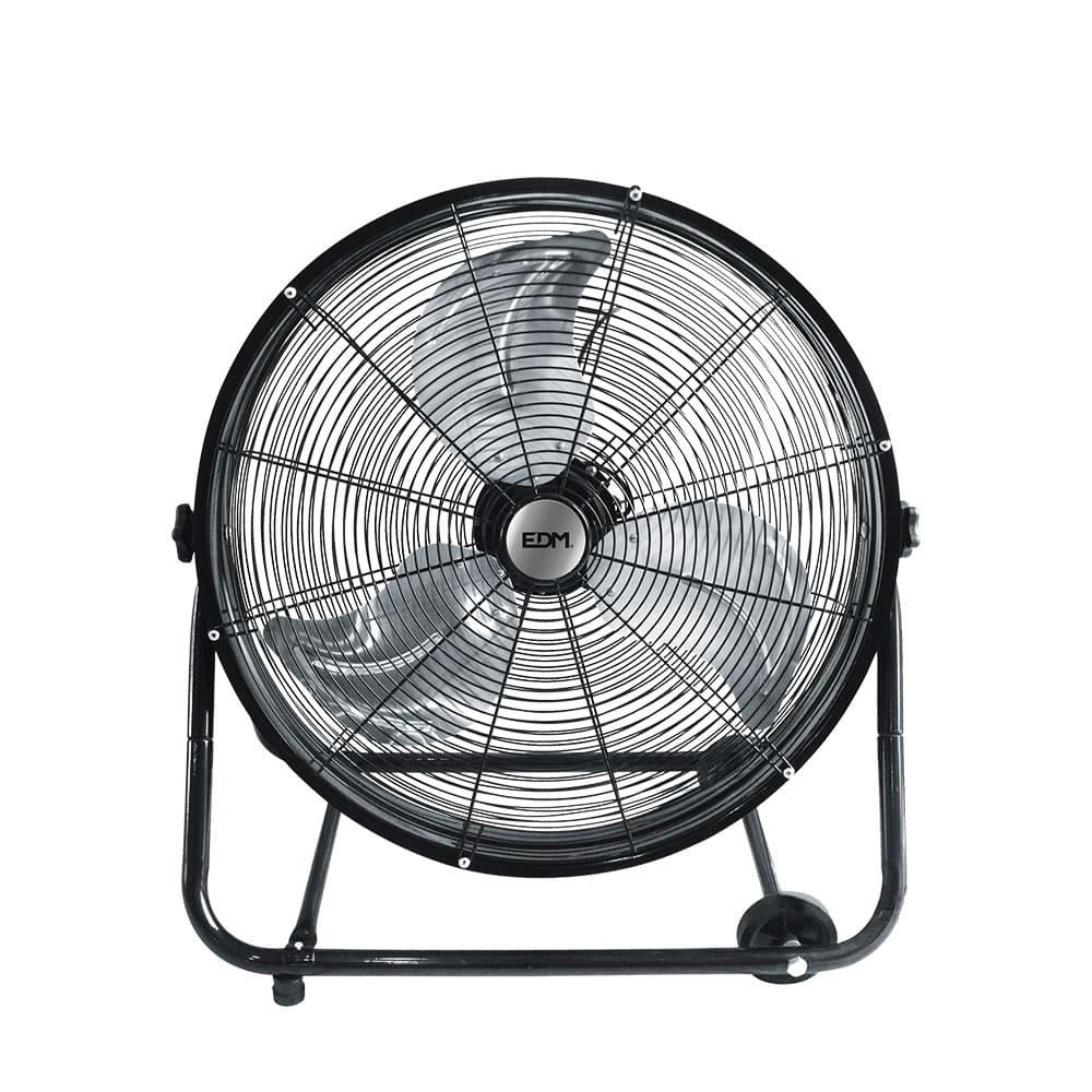 Ventilador industrial de suelo con ruedas negro 180w ø aspas 60 cm edm