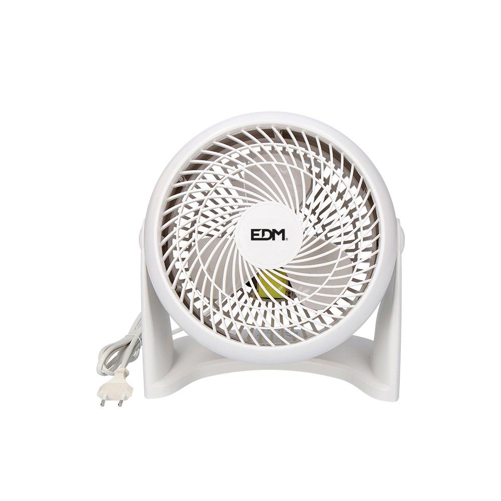 Ventilador 2 en 1 ( suelo y pared ) blanco 50w  ø aspas 18 cm edm