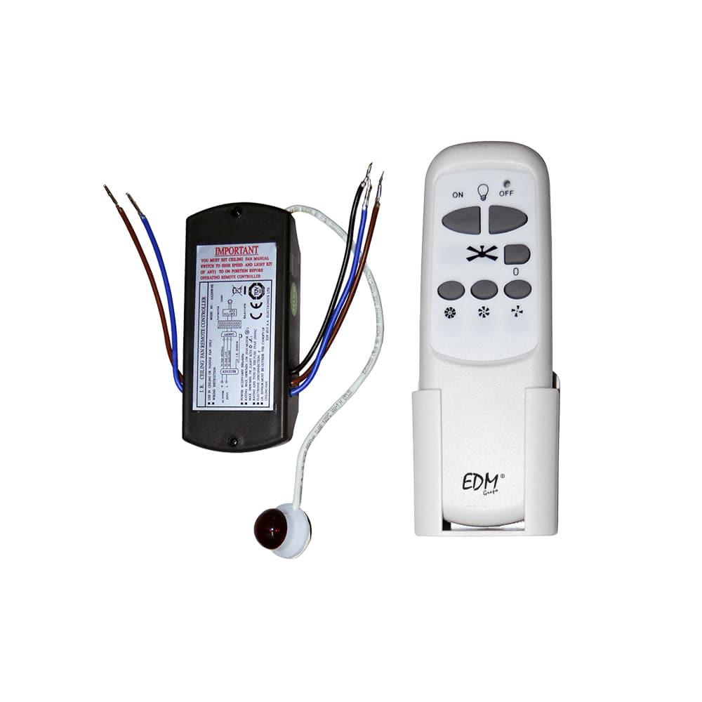 Kit mando a distancia universal para ventilador de techo edm