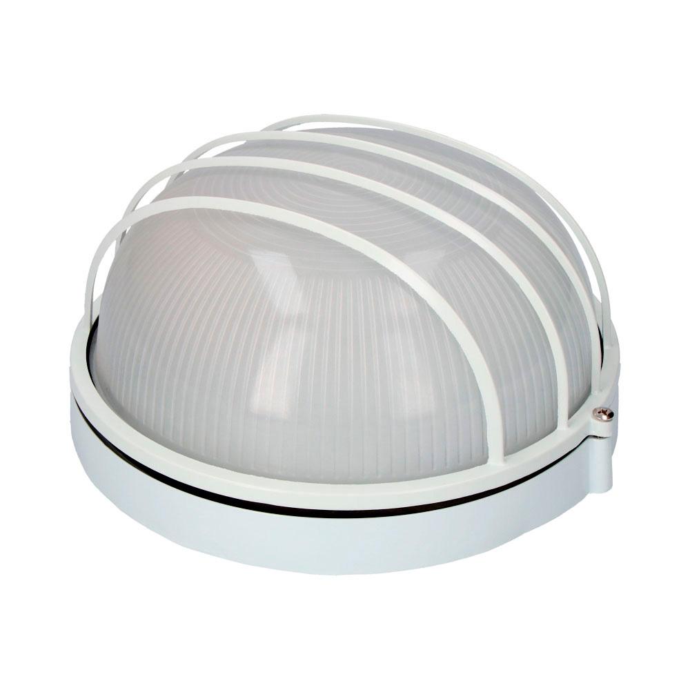 Aplique Aluminio Ip54 Redondo Blanco E27 100W  Modelo Vinyols