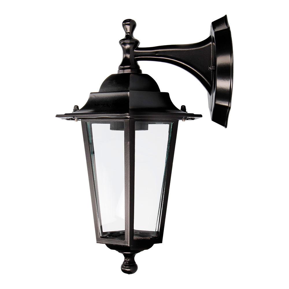 Aplique Farol Aluminio Negro Mod. Zurich 60W E27 Ip44