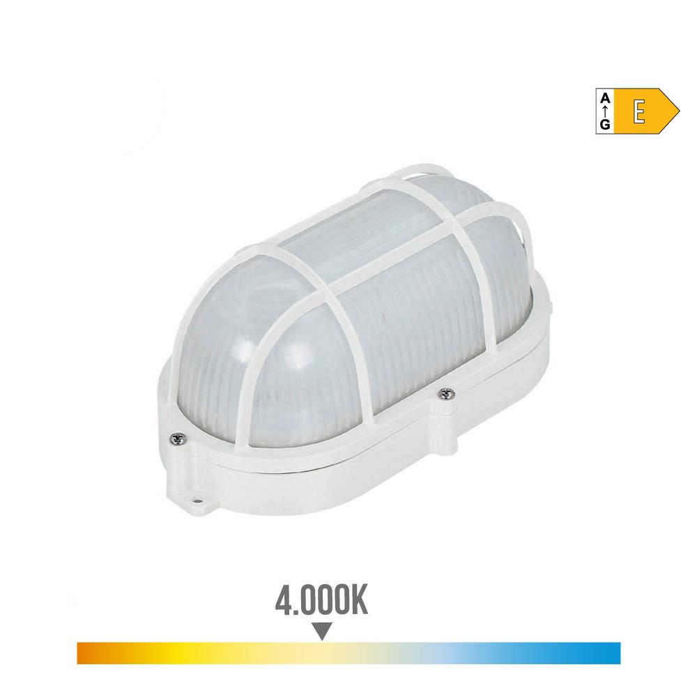 Aplique Oval Rejilla Exterior Led 9W 810 Lumens Ip65 4.000K Edm