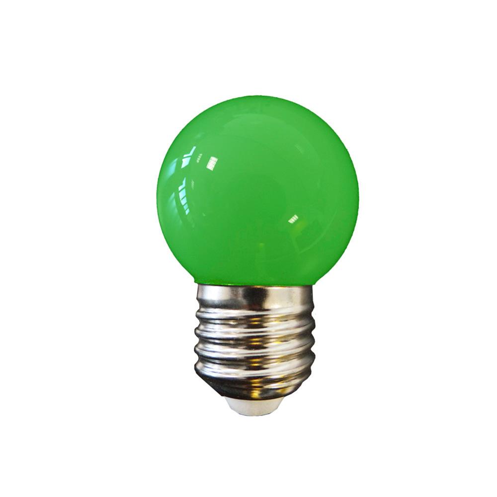 Bombilla Esferica Led - Mate - E27 - 1,5W - Verde - Edm
