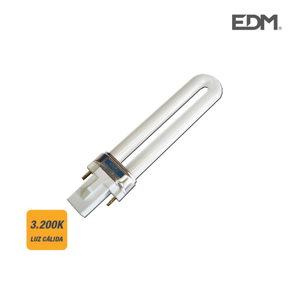 Bombilla Bajo Consumo Pl-9W 3.200K Luz Calida 450 Lumens Edm